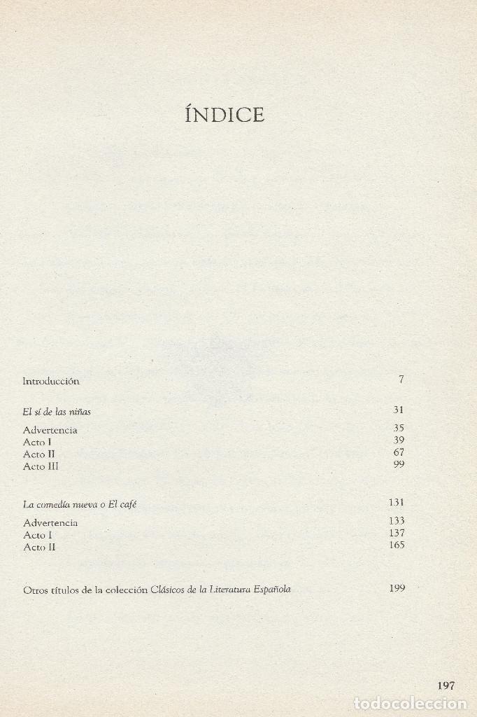 Libros de segunda mano: El sí de las niñas. La comedia nueva (1996), de Leandro Fernández de Moratín. Ediciones Rueda J. M. - Foto 8 - 251548185