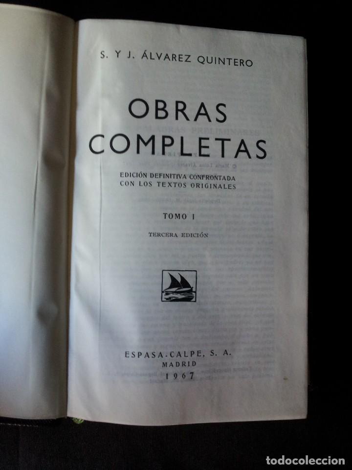Libros de segunda mano: SERAFIN Y JOAQUIN ALVAREZ QUINTERO - OBRAS COMPLETAS 7 TOMOS - ESPASA CALPE - Foto 2 - 122985855