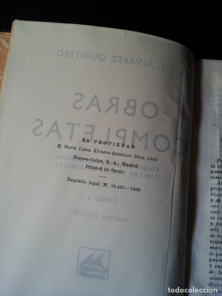 Libros de segunda mano: SERAFIN Y JOAQUIN ALVAREZ QUINTERO - OBRAS COMPLETAS 7 TOMOS - ESPASA CALPE - Foto 3 - 122985855