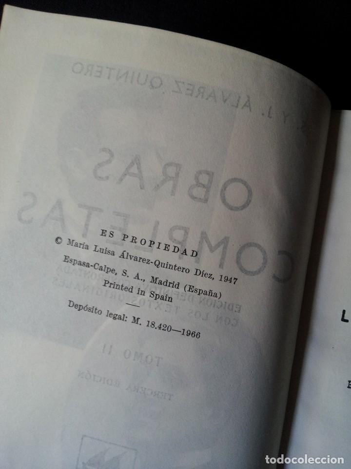 Libros de segunda mano: SERAFIN Y JOAQUIN ALVAREZ QUINTERO - OBRAS COMPLETAS 7 TOMOS - ESPASA CALPE - Foto 5 - 122985855