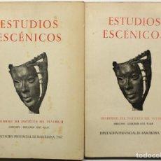 Libros de segunda mano: ESTUDIOS ESCÉNICOS. - BARCELONA, 1957.. Lote 123143956