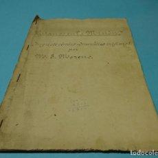 Libros de segunda mano: MANUSCRITO MECANOGRAFIADO GITANOS EN LA MISIÓN. JUGUETE CÓMICO-DRAMÁTICO MISIONAL. M.J. MORENO. Lote 128075691