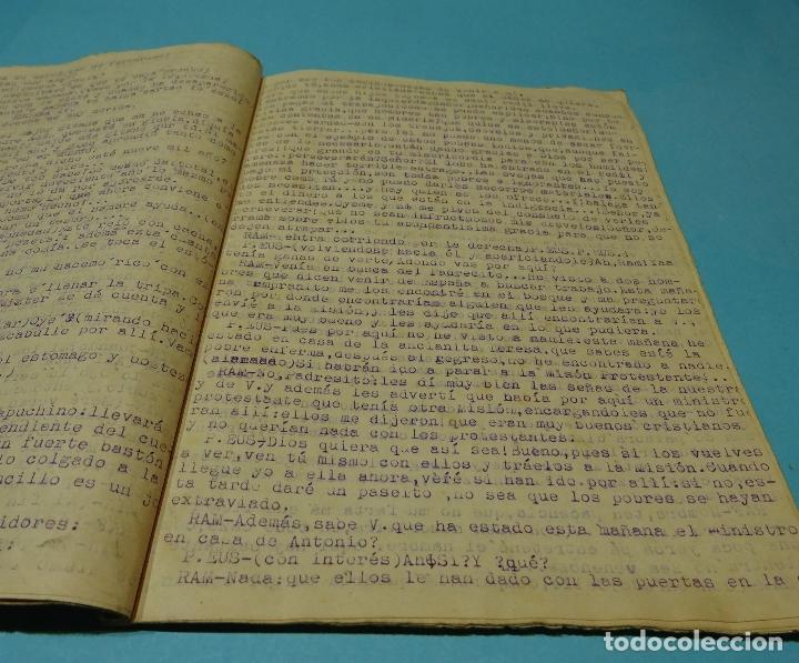 Libros de segunda mano: MANUSCRITO MECANOGRAFIADO GITANOS EN LA MISIÓN. JUGUETE CÓMICO-DRAMÁTICO MISIONAL. M.J. MORENO - Foto 2 - 128075691