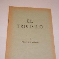Libros de segunda mano: EL TRICICLO, DE FERNANDO ARRABAL - BIBLIOTECA TEATRAL YORICK N.8 - C1965. Lote 129971839