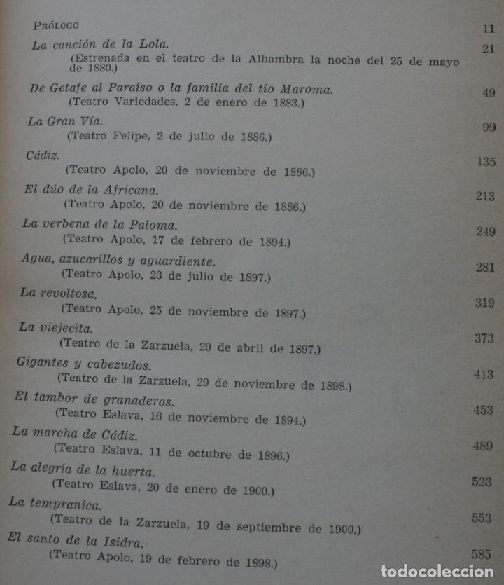 Libros de segunda mano: LIBRO TEATRO: EL GENERO CHICO POR ANTONIO VALENCIA - ANTOLOGÍA DE TEXTOS COMPLETOS DE 15 OBRAS - Foto 3 - 130103471