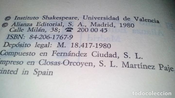 Libros de segunda mano: el rey lear-shakespeare-alianza editorial-gu8/ - Foto 5 - 130961476