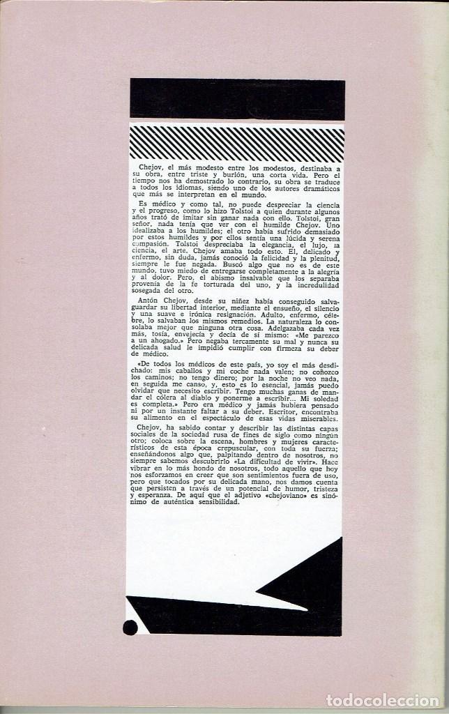 Libros de segunda mano: EL TÍO VANIA, POR ANTON CHEJOV. AÑO 1979. (10.5) - Foto 2 - 132739246
