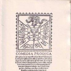 Libros de segunda mano: MIRANDA, LUIS: COMEDIA PRODIGA. Lote 133853946