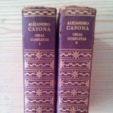 Libros de segunda mano: ALEJANDRO CASONA - OBRAS COMPLETAS I Y II - 1966 AGUILAR. Lote 134015962