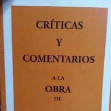 Libros de segunda mano: CRITICAS Y COMENTARIOS A LA OBRA DE PEDRO PARPAL LLADO. Lote 134022455