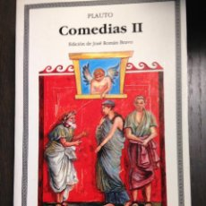 Libros de segunda mano: COMEDIAS II PLAUTO CATEDRA Nº 126 MUY BUENO. Lote 134092478