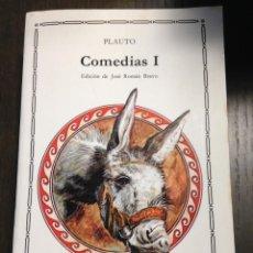 Libros de segunda mano: COMEDIAS I PLAUTO CATEDRA Nº125 BUEN ESTADO. Lote 134092822