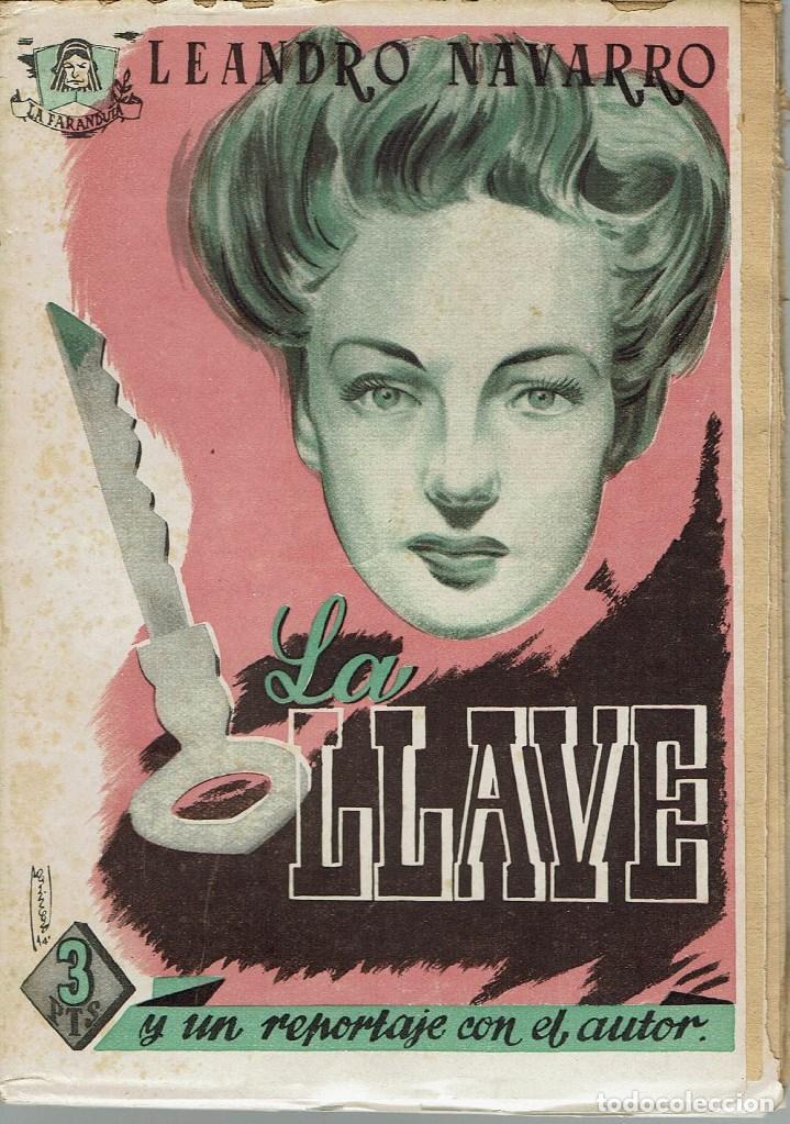 LA LLAVE, POR LEANDRO NAVARRO. AÑO 1944. (13.5) (Libros de Segunda Mano (posteriores a 1936) - Literatura - Teatro)