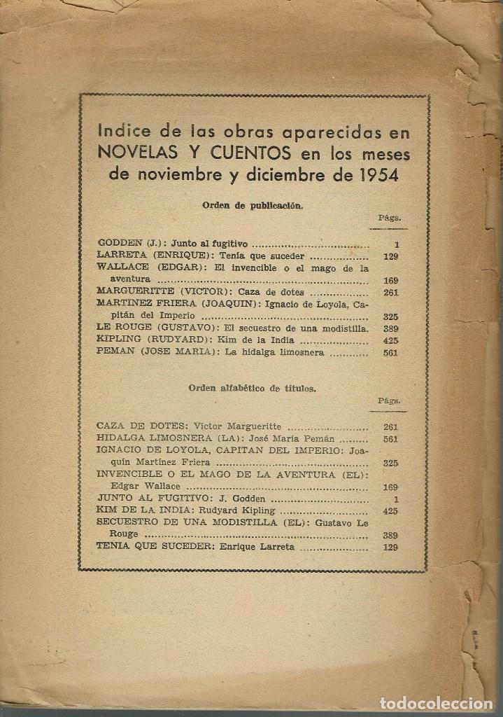 Libros de segunda mano: LA HIDALGA LIMOSNERA, POR JOSÉ MARÍA PEMÁN Y PEMARTÍN. AÑO 1954. (13.5) - Foto 2 - 134961502