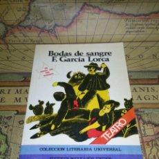 Libros de segunda mano: BODAS DE SANGRE F. GARCIA LORCA. EDITORES MEXICANOS UNIDOS. 1982. Lote 135063646