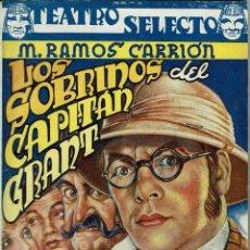 Libros de segunda mano: LOS SOBRINOS DEL CAPITÁN GRANT / LA BRUJA / LA MARSELLESA, POR MIGUEL RAMOS CARRIÓN. AÑO ¿? (4/7). Lote 135323830