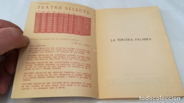 Libros de segunda mano: la tercera palabra-alejandro casanova-468/ colección teatro-escelicer - Foto 4 - 135835334