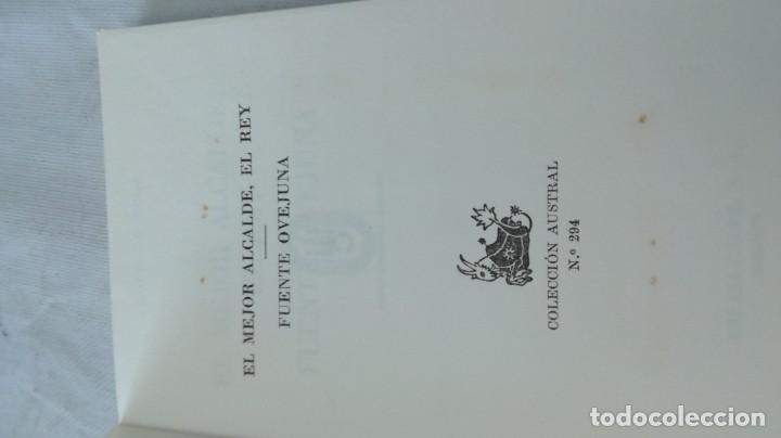 Libros de segunda mano: el mejor alcalde el rey-fuente ovejuna-lope de vega/ austral - Foto 5 - 135835598
