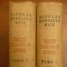 Libros de segunda mano: TEATRO TEOLOGICO ESPAÑOL, 2 VOL. VV.AA. AUTOS SACRAMENTALES.- 1964, NICOLAS GONZALEZ RUIZ. Lote 140286838