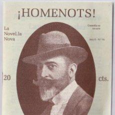 Libros de segunda mano: HOMENOTS - LAMBERT ESCALER - LA NOVEL·LA NOVA Nº 79 - VILAFRANCA PENEDES 1992. Lote 144927638