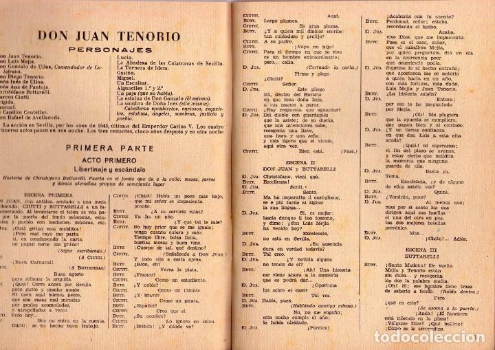 Libros de segunda mano: JOSÉ ZORRILLA *** DON JUAN TENORIO *** BIBLIOTECA TEATRO MUNDIAL *** AÑO 1949 - Foto 3 - 145270214