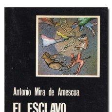 Libros de segunda mano: ANTONIO MIRA DE AMESCUA.– EL ESCLAVO DEL DEMONIO. CÁTEDRA 1980. DEDICATORIA JAMES AGUSTÍN CASTAÑEDA. Lote 145459230