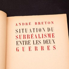 Livros em segunda mão: ANDRE BRETON : SITUATION DU SURREALISME ENTRE LES DEUX GUERRES. Lote 145686310