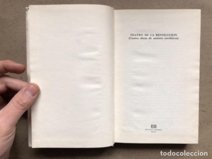 Libros de segunda mano: TEATRO DE LA REVOLUCIÓN (CUATRO OBRAS DE AUTORES SOVIÉTICOS). EDITORIAL PROGRESO 1979, MOSCÚ. - Foto 3 - 146223974
