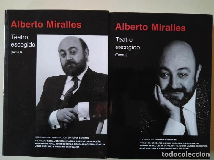 ALBERTO MIRALLES: TEATRO ESCOGIDO. DOS VOLÚMENES (Libros de Segunda Mano (posteriores a 1936) - Literatura - Teatro)