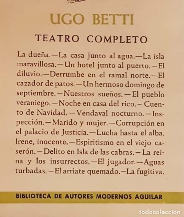 Libros de segunda mano: Ugo BETTI. Teatro completo. Madrid, Aguilar, 1960. - Foto 3 - 146452034