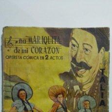 Libros de segunda mano: DOÑA MARIQUITA DE MI CORAZON, COLECCION TALIA, Nº XXXI, AÑO 1942. Lote 148116378