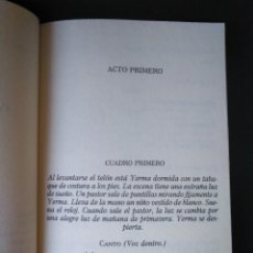 Libros de segunda mano: YERMA. GARCÍA LORCA. ALIANZA CIEN. Lote 148121318