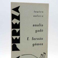 Livros em segunda mão: PROGRAMA OBRA LA PEREZA. ANALIA GADÉ, FERNANDO FERNÁN GÓMEZ (RICARDO TALESNIK) TEATRO ESLAVA, 1968. Lote 149206882