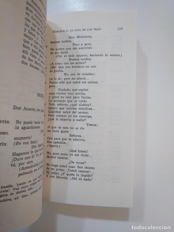 Libros de segunda mano: MARCELA O ¿A CUAL DE LOS TRES?. MUERETE Y ¡VERAS!. LA ESCUELA DEL... BRETON DE LOS HERREROS. TDK363 - Foto 2 - 151195078