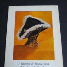 Libros de segunda mano: 7 FIGURINES DE PICASSO PARA EL SOMBRERO DE TRES PICOS. 1972. Lote 153829214