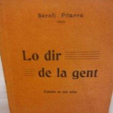Libros de segunda mano: STQ.SERAFI PITARRA.LO DIR DE LA GENT.EDT, BARCELONA.BRUMART TU LIBRERIA. Lote 155088134