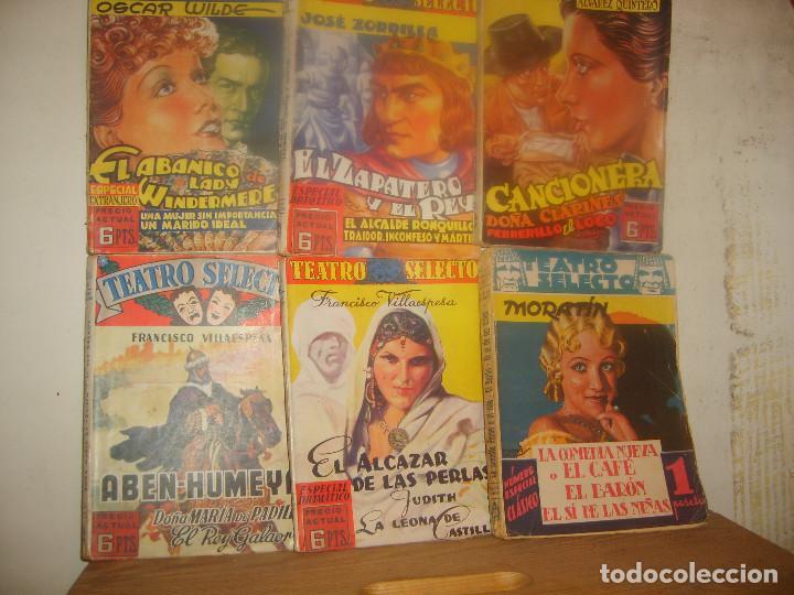 6 TEATRO SELECTO ESPECIAL DRAMÁTICO 3 4 5 CLÁSICO 2 EXTRANJERO 2 EXTRAORDINARIO 2. 1ª ED CISNE 1940. (Libros de Segunda Mano (posteriores a 1936) - Literatura - Teatro)