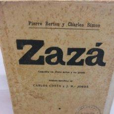 Libros de segunda mano: STQ.BERTON Y SIMON.ZAZA.EDT, MADRID... Lote 155581422