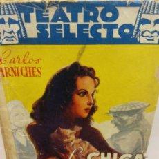 Libros de segunda mano: STQ.CARLOS ARNICHES.LA CHICA DEL GATO... Lote 155582754