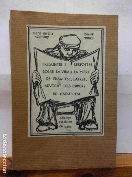 STQ.CAPMANY Y ROMEU.PREGUNTES I RESPOSTES.EDT, CATALANES DE PARIS.. (Libros de Segunda Mano (posteriores a 1936) - Literatura - Teatro)