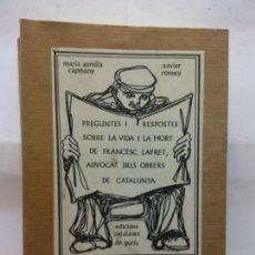 Libros de segunda mano: STQ.CAPMANY Y ROMEU.PREGUNTES I RESPOSTES.EDT, CATALANES DE PARIS... Lote 155759854
