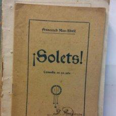 Libros de segunda mano: STQ.FRANCESCH MAS ABRIL.SOLETS.EDT,BARCELONA... Lote 155796630