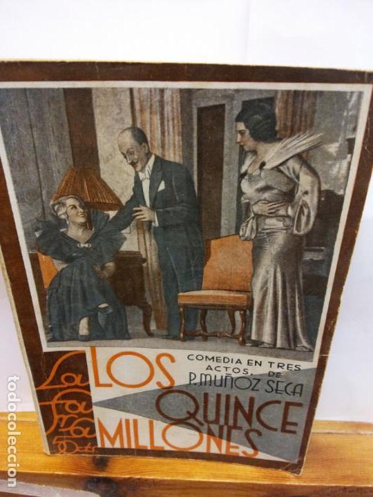 STQ.MUÑOZ SECA.LOS QUINCE MILLONES.EDT, LA FARSA.BRUMART TU LIBRERIA (Libros de Segunda Mano (posteriores a 1936) - Literatura - Teatro)