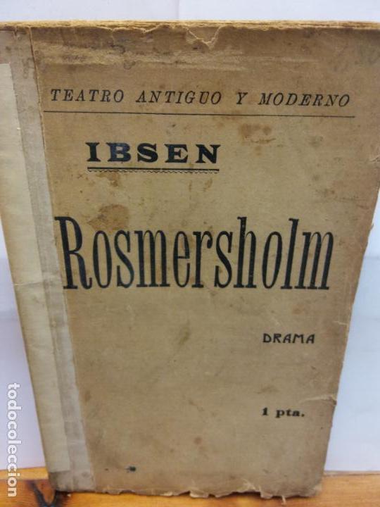 STQ.IBSEN.ROSMERSHOLM.EDT, BARCELONA.BRUMART TU LIBRERIA (Libros de Segunda Mano (posteriores a 1936) - Literatura - Teatro)