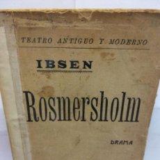 Libros de segunda mano: STQ.IBSEN.ROSMERSHOLM.EDT, BARCELONA.BRUMART TU LIBRERIA. Lote 156970946