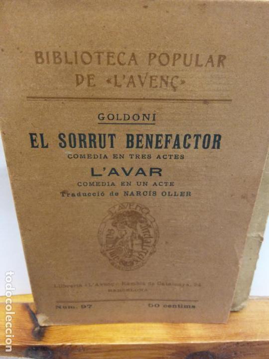 STQ.L´AVAR.EL SORRUT BENEFACTOR.EDT,BARCELONA.BRUMART TU LIBRERIA (Libros de Segunda Mano (posteriores a 1936) - Literatura - Teatro)