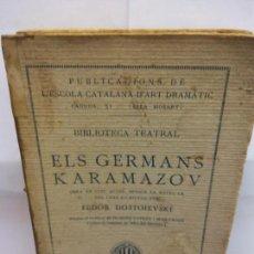 Libros de segunda mano: STQ.ELS GERMANS KARAMAZOV.EDT,BARCELONA.BRUMART TU LIBRERIA. Lote 156974518