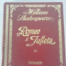 Libros de segunda mano: ROMEO Y JULIETA. FOTOTEATRO.. Lote 158130220