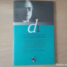 Libros de segunda mano: PARAULA DE DRAMATURG - ALEXANDRE BALLESTER. Lote 161565546