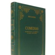 Libros de segunda mano: 2000 - MENANDRO: COMEDIAS. EL MISÁNTROPO. EL ARBITRAJE. LA SAMIA - BIBLIOTECA CLÁSICA GREDOS. Lote 182375803